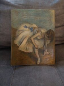 Seated Dancer  by Edgar Degas  Reproduction on Canvas