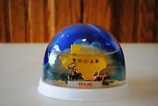 Vtg Snow Dome Globe Souvenir Texas Cowboy Wrangling Steer Snowdome Snowglobe