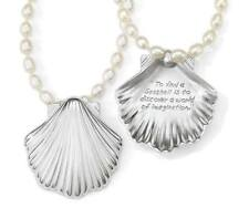 NWT Brighton SEASCAPE PEARL Shell Pendant Nautical Beach Necklace MSRP $92