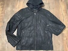 NEW La Nouvelle Wilsons Renaissance leather hood jacket mens medium m black