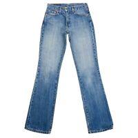 Vintage Levi's 525 04 Donna Blu Regular Bootcut Fit Jeans Taglia W27 L34