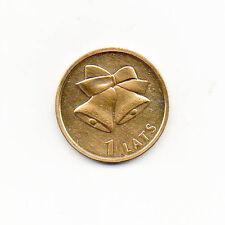 Latvia 24K Gold Plated 1 lats 2012 Christmas bells
