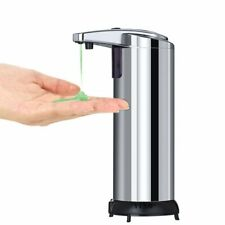 Automatic Soap Dispenser Touchless Countertop Liquid Holder Stainless Steel