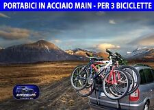 Portabici auto per NISSAN QASHQAI DAL 2006 AL 2014 * porta bici 3 in acciaio