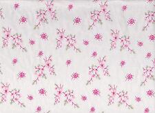 Pink Floral #1 Flannelette Fabric 108cm Wide (per metre)