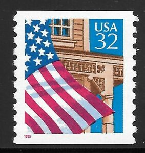 U.S. Scott #2913  32c Flag Over Porch Coil Stamp MNH OG XF!!