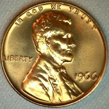 1966 Lincoln Memorial One Cent Coin from SMS Special Mint Set 1c Copper Penny K