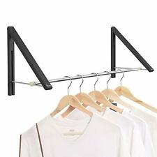 Anjuer Retractable Clothes Rack Wall Mounted Folding Clothes Hanger Drying