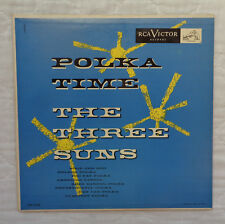 """RCA Victor LPM 3146 The Three Suns Polka Time 10"""" lp, EXTREMELY RARE!"""