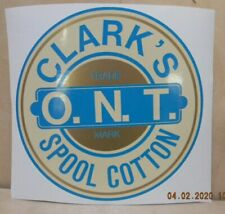 Clark'S Spool Cabinet Label / Large 9 Inch Decal / Free Shipping