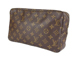 LOUIS VUITTON TROUSSE TOILETTE 28 Monogram Canvas Cosmetic Pouch Bag LP4610