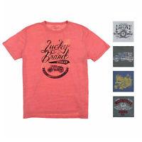 LUCKY BRAND Mens Graphic Tee Shirt (Grey High Roller, Medium)