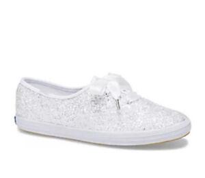 Kate Spade New York Keds Champion Glitter White Sneaker Wedding Size US6 RRP$140