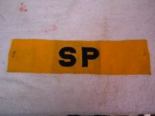 WW2 U. S. NAVY SP S P SHORE PARTY  SECURITY POLICE ARM BAND  YELLOW BLUE LETTERS
