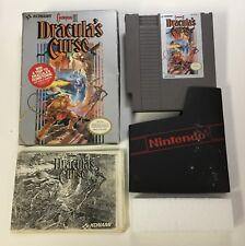 Dracula's Curse Original Nintendo NES CIB Complete in Box