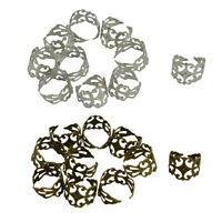 20x Retro Style Brass Filigree Adjustable Ring Base Blank 18mm Base Findings