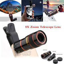8X Zoom Optical Clip-on HD Telescope Phone Camera Lens For Cell Phones US Stock