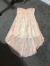 Womens Gorgeous Apricot Strapless Dress Size 12 EUC