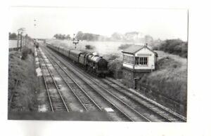 Rail Photo LMS 460 Royal Scot 46170 Euxton signal box Lancashire Preston LNWR