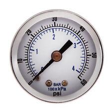 "1/8"" NPT Air Compressor / Hydraulic Pressure Gauge 0-60 PSI Back Mount 1.5"""