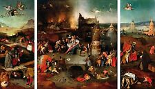 TEMPTATION OF ST. ANTHONY, 1500 By Hieronymus Bosch Vintage Canvas Print 40x20