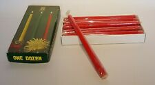 """Vintage 12 Red Taper Dinner Candles 10"""" Sunflower Brand  New  Box a bit scruffy"""