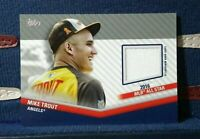 2020 Topps Update Mike Trout All-Star Stitches GU Patch Jersey Relic - Angels