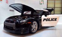 G LGB 1:24 Scale Police 2009 Nissan GT-R R35  Detailed Maisto Diecast Model Car