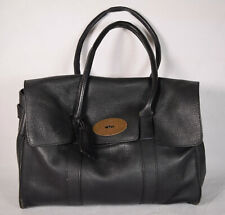 Mulberry Handbag Bag Purse Black Soft Pebbled Leather Italy