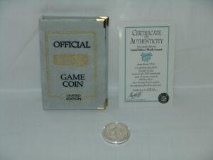 Super Bowl XXXI Flip Coin .999 Silver #'d 0812 Packers / Patriots w/COA
