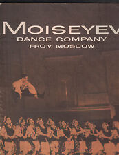 Moiseyev Dance Company from Moscow 1958 1959 program Ballet