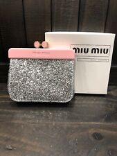 Miu Miu Parfums Sparkle Glitter Coin Purse Pouch Pouchette Makeup Cosmetic Bag