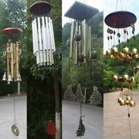Large Tubes Woodstock Wind Chime Home Garden Noisemaker Windbell Decor Craft
