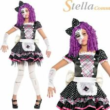 Girls Damaged Doll Costume Halloween Manequin Fancy Dress Child Outfit