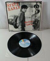 Steve Earle Guitar Town Album Vinyl LP Record