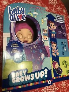 Baby Alive Baby Grows Up Dreamy Bonus Pack, Growing And Talking Doll FAST🚚💨