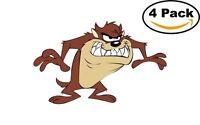Taz Tasmanian Devil 4 Stickers Cartoon Window Sticker Decal 4X4_12