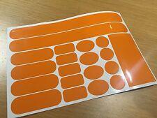 Patch Arancione Frame FORK FORCELLA Cavo RUB Protettore Set Adesivo MOUNTAIN BIKE