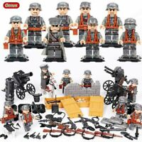 WW2 Army Soldiers Minifigures with Weapons Military Sets fit Lego World War 2
