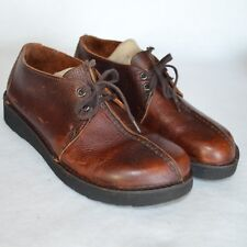 Dexter Comfort Shoes Men 9 M Brown Leather Oxford Casual Walking Split Toe USA