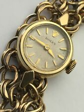 VINTAGE ROLEX 14K SOLID YELLOW GOLD. HAND WINDING WATCH.PETITE.RUN