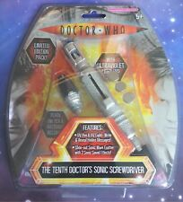 10th Doctor Who Sonic Screwdriver Light & Sound Electronic Toy with 2 x Pen Nibs