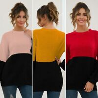 Knit Shirt Casual Sweater Pullover T-Shirt Knitted Womens Jumper Loose Tops