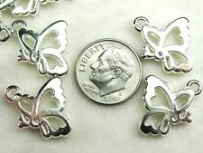 150+ CCB Style Acrylic Butterfly Platinum Color Pendants for Crafts Jewelry US