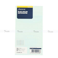 Filofax Book Personal Organiser Blue Ruled Diary Notepaper Refil Insert 133001