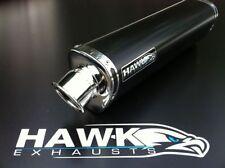 Hawk Triumph 955i 2003 - 2004 Tri Oval Negro de escape puede Silenciador Sl