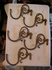 Set of 5 Matching Victorian Brass Candle Light Fixture or Wall Sconce Arms
