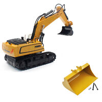 Upgrade Full Metal Bucket for Huina 580 Excavator 1:14 RC Metal Excavator Kit
