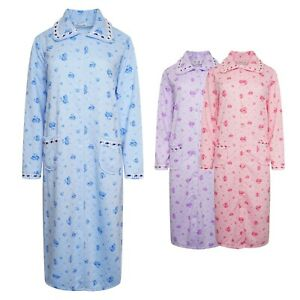 """VERY SOFT QUILTED GOWN ROBE KIMONO COTTON 80% RICH BUTTON THROUGH 44"""" LENGTH"""