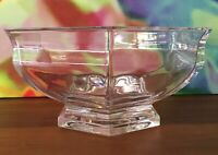 "GORHAM // Six-Panel Crystal Bowl ~ 9 7/8"" // Vintage 1980's// Weight: 6 1/2 LBS."